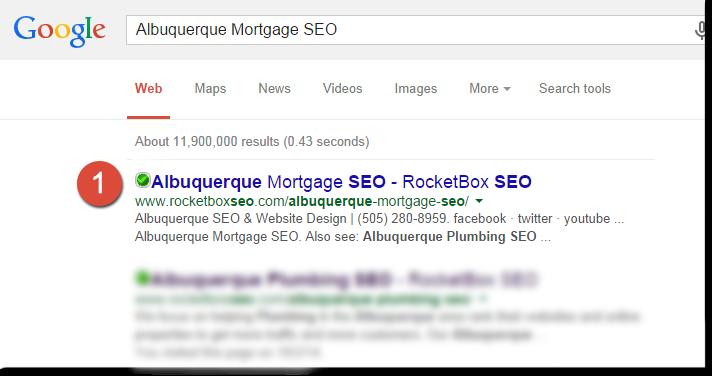 Mortgage SEO