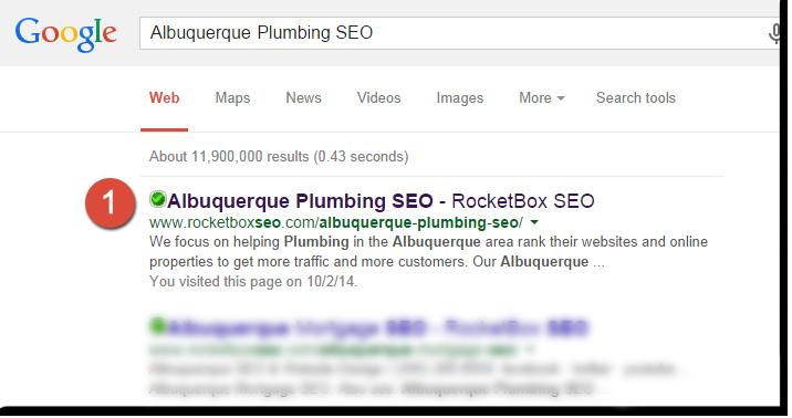 Plumbing SEO