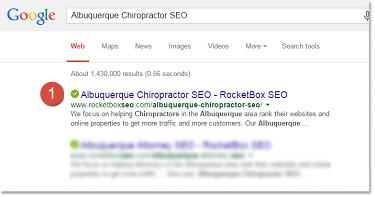 Albuquerque Chiropractor SEO3